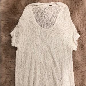 Free people white sweater tunic/dress